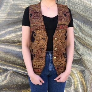 Vintage 1990's Elaborate Abstract Vest